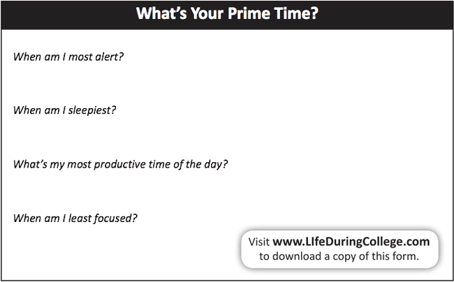 What's Your Prime Time?