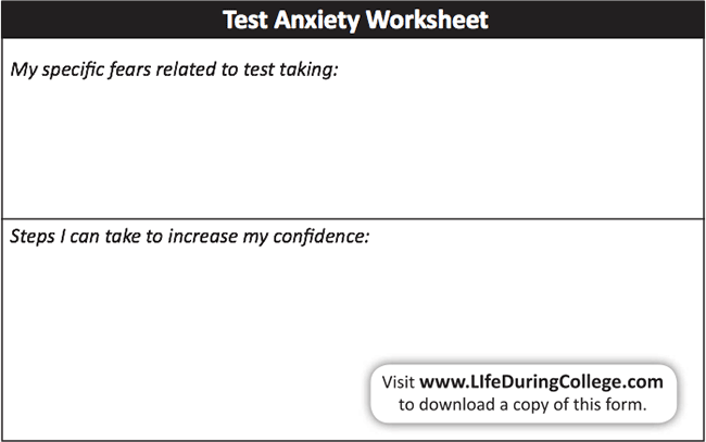 Printables Test Anxiety Worksheets test anxiety worksheets bloggakuten collection of bloggakuten