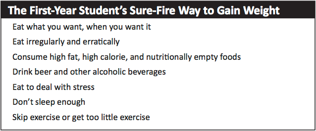 The First-Year Student's Sure-Fire Way to Gain Weight