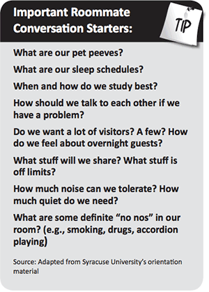 Important Roommate Conversation Starters: